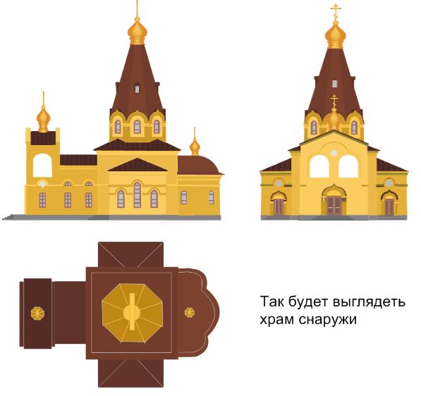 Эскизный проект нового храма.